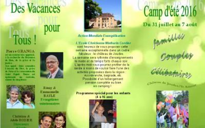 Camp d'été du 31 juillet au 7 aout nos articles Nos Articles Vacance Joudes 400x250